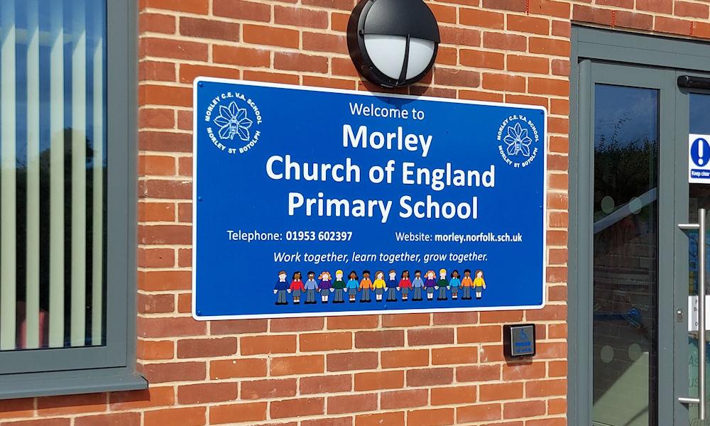 Morley CofE School sign